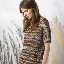 Pullover mit Zopfmuster aus Lang Yarns Fiora