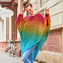 Poncho Two-for-One aus Woolly Hugs Bobbel Cotton