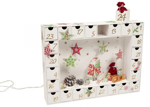 bastelanleitung adventskalender aus pappe gestalten buttinette bastelshop. Black Bedroom Furniture Sets. Home Design Ideas