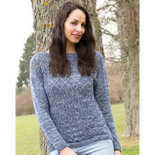 Pullover mit Ajourmuster aus Woll Butt Primo Madeleine Color