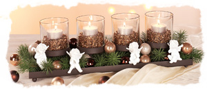 kerzenhalter f r den adventskranz weihnachten buttinette bastelshop. Black Bedroom Furniture Sets. Home Design Ideas