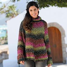 Pull poncho en laine Online Arella